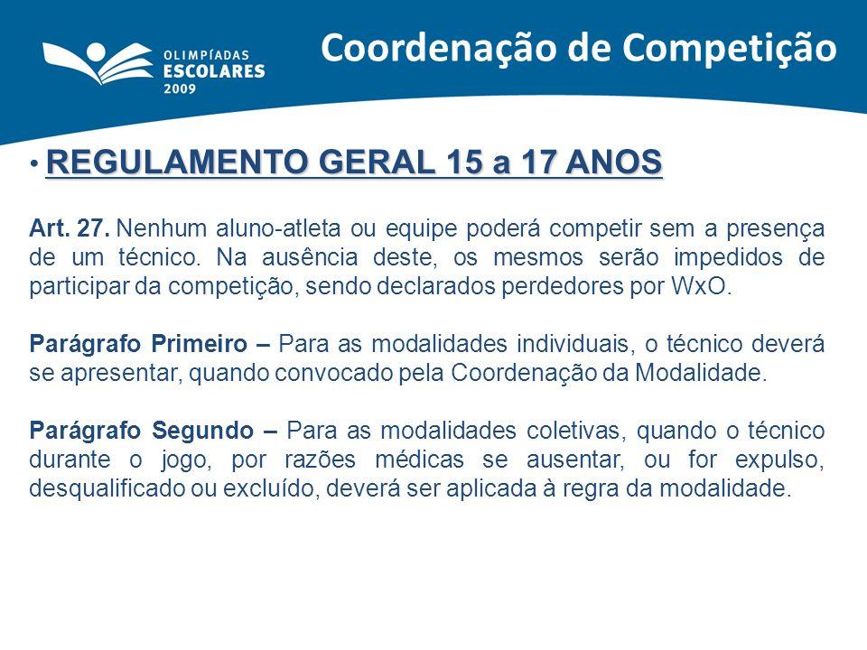 Coordenação de Competição