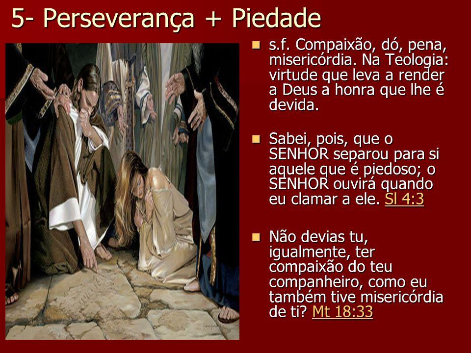 5- Perseverança + Piedade