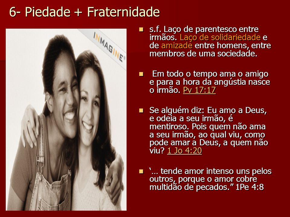 6- Piedade + Fraternidade