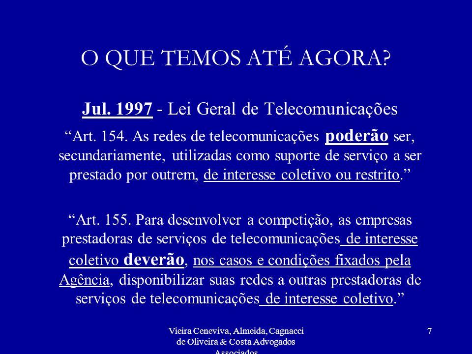 Jul. 1997 - Lei Geral de Telecomunicações