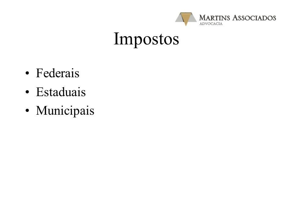 Impostos Federais Estaduais Municipais