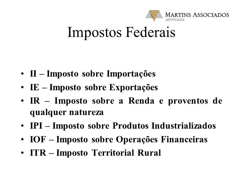 Impostos Federais II – Imposto sobre Importações