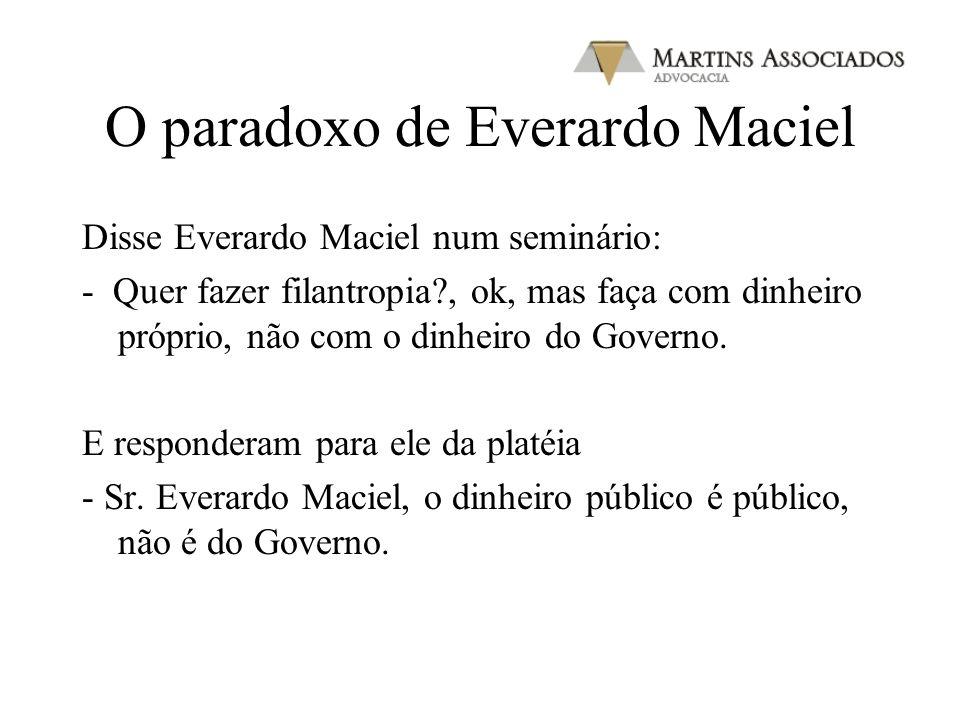 O paradoxo de Everardo Maciel