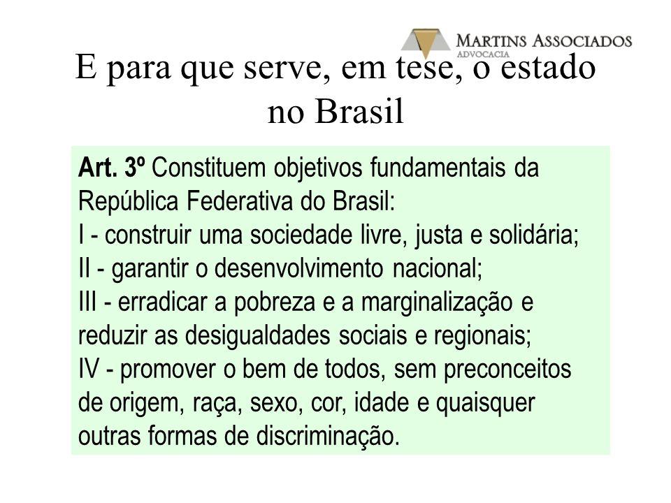 E para que serve, em tese, o estado no Brasil