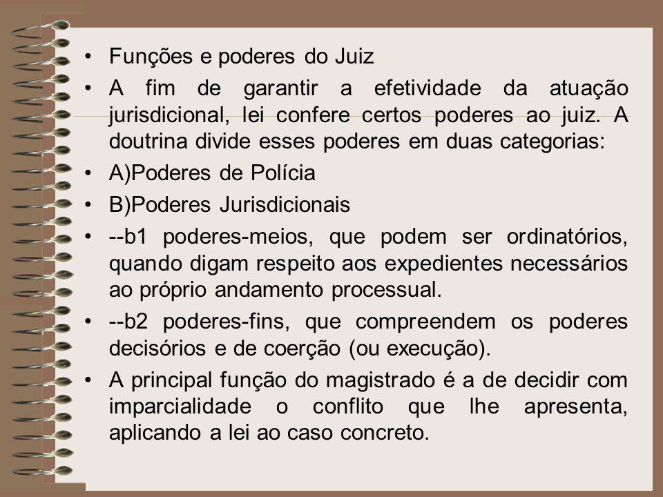 Funções e poderes do Juiz