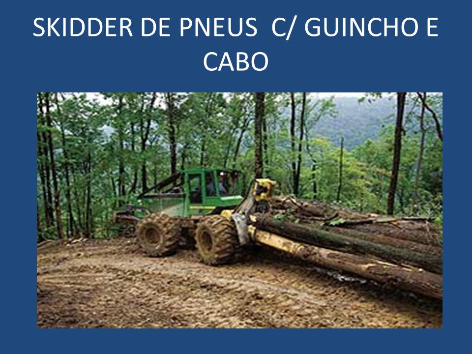 SKIDDER DE PNEUS C/ GUINCHO E CABO