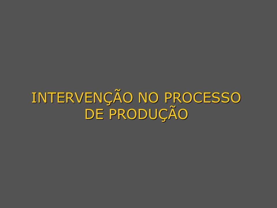 INTERVENÇÃO NO PROCESSO DE PRODUÇÃO