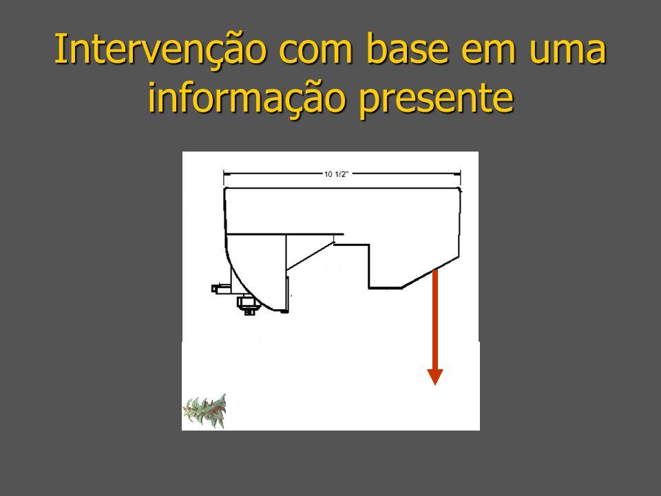 Intervenção com base em uma informação presente