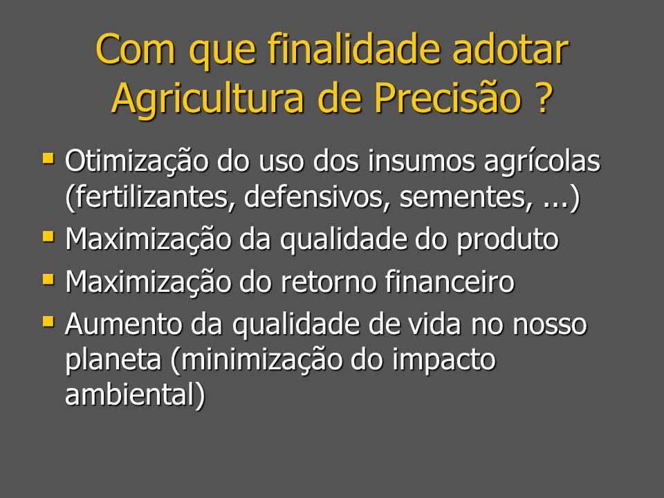 Com que finalidade adotar Agricultura de Precisão