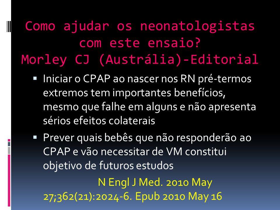 Como ajudar os neonatologistas com este ensaio