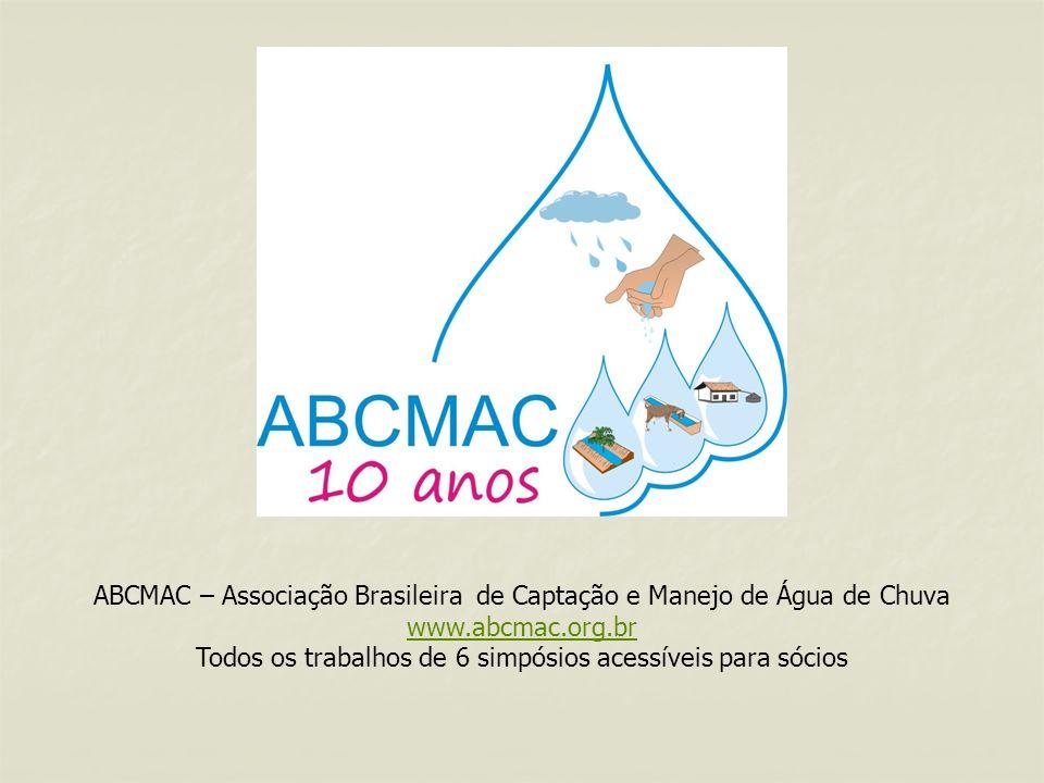 ABCMAC – Associação Brasileira de Captação e Manejo de Água de Chuva