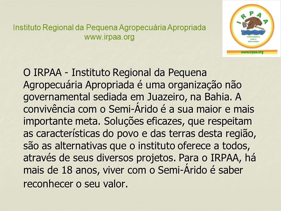 Instituto Regional da Pequena Agropecuária Apropriada