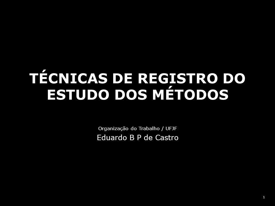TÉCNICAS DE REGISTRO DO ESTUDO DOS MÉTODOS