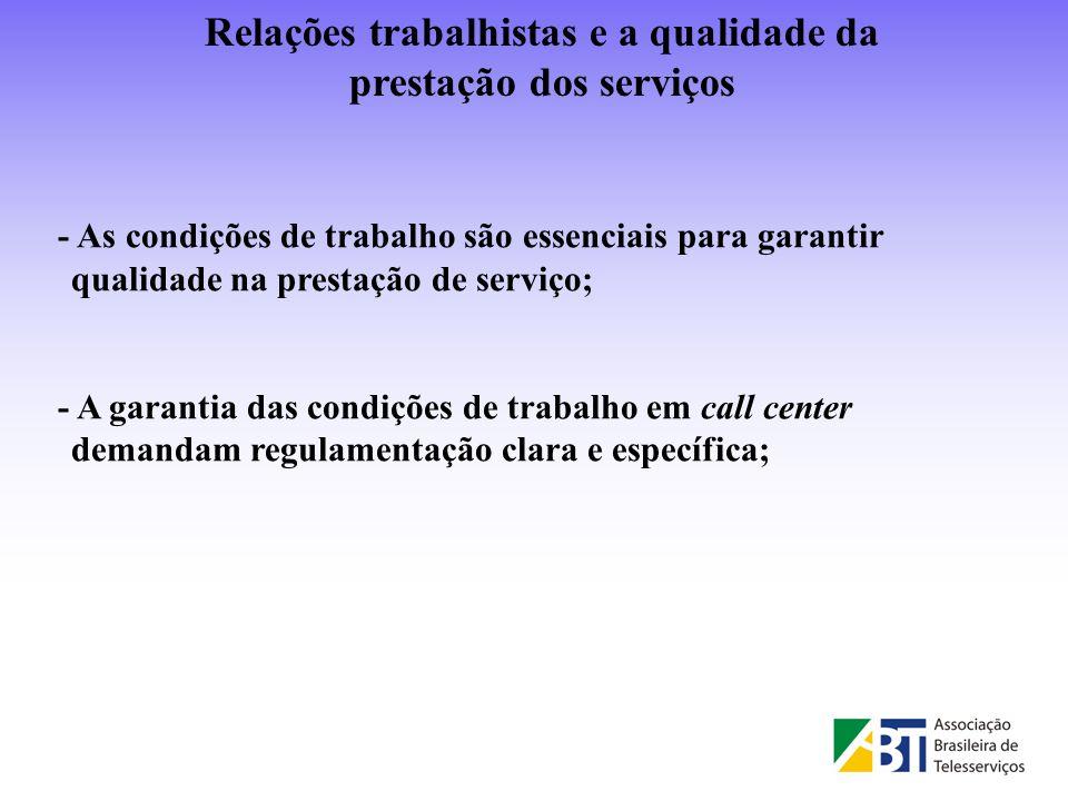 Relações trabalhistas e a qualidade da prestação dos serviços