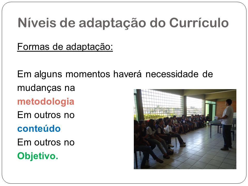 Níveis de adaptação do Currículo