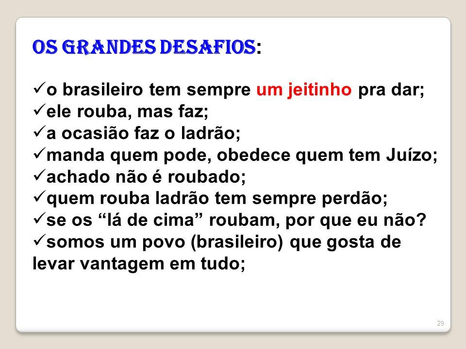 OS Grandes desafios: o brasileiro tem sempre um jeitinho pra dar;