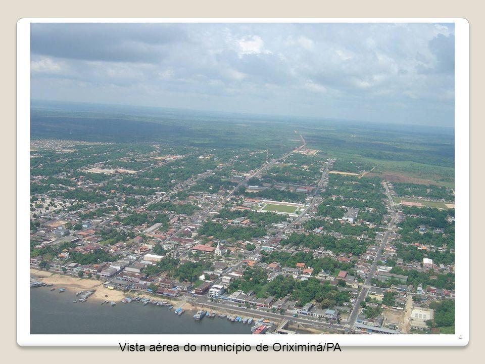 Vista aérea do município de Oriximiná/PA