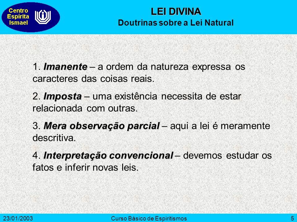 Doutrinas sobre a Lei Natural
