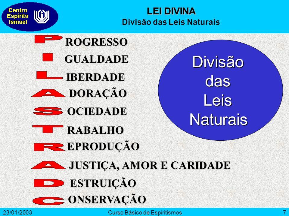 Divisão das Leis Naturais
