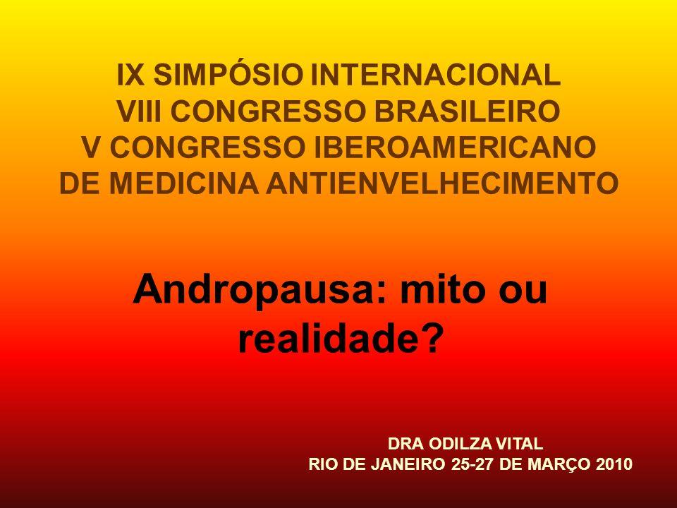 Andropausa: mito ou realidade