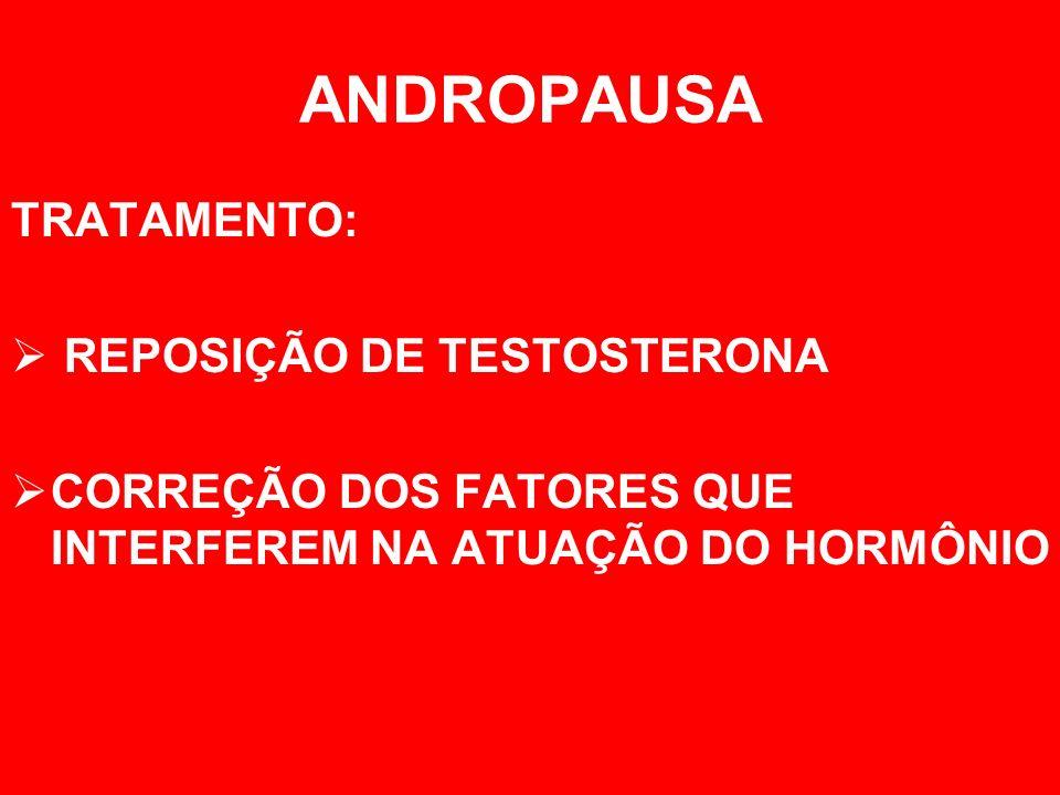 ANDROPAUSA TRATAMENTO: REPOSIÇÃO DE TESTOSTERONA