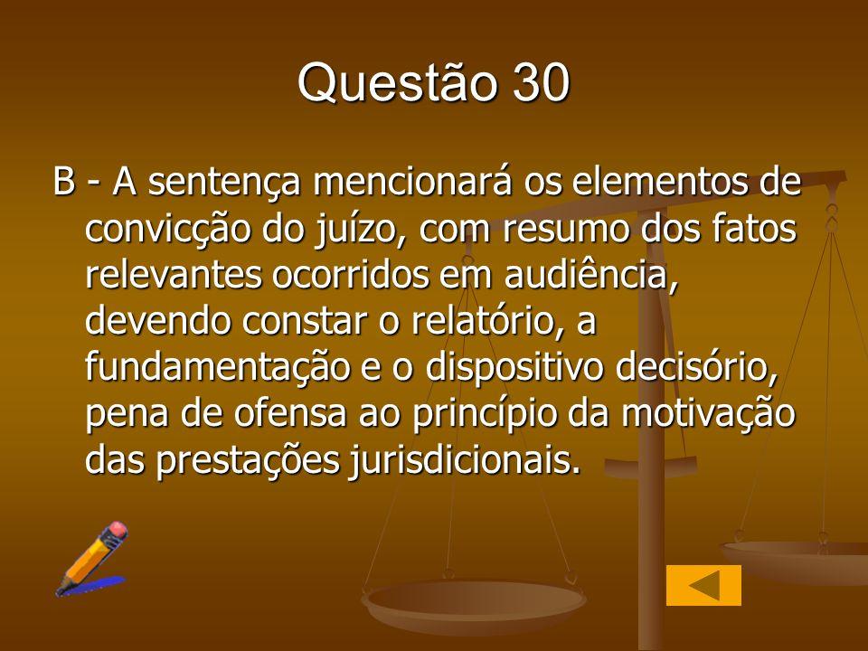 Questão 30