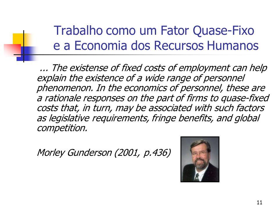 Trabalho como um Fator Quase-Fixo e a Economia dos Recursos Humanos