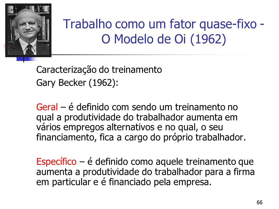 Trabalho como um fator quase-fixo - O Modelo de Oi (1962)
