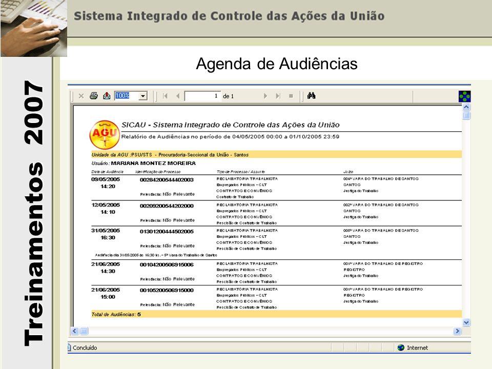 Agenda de Audiências