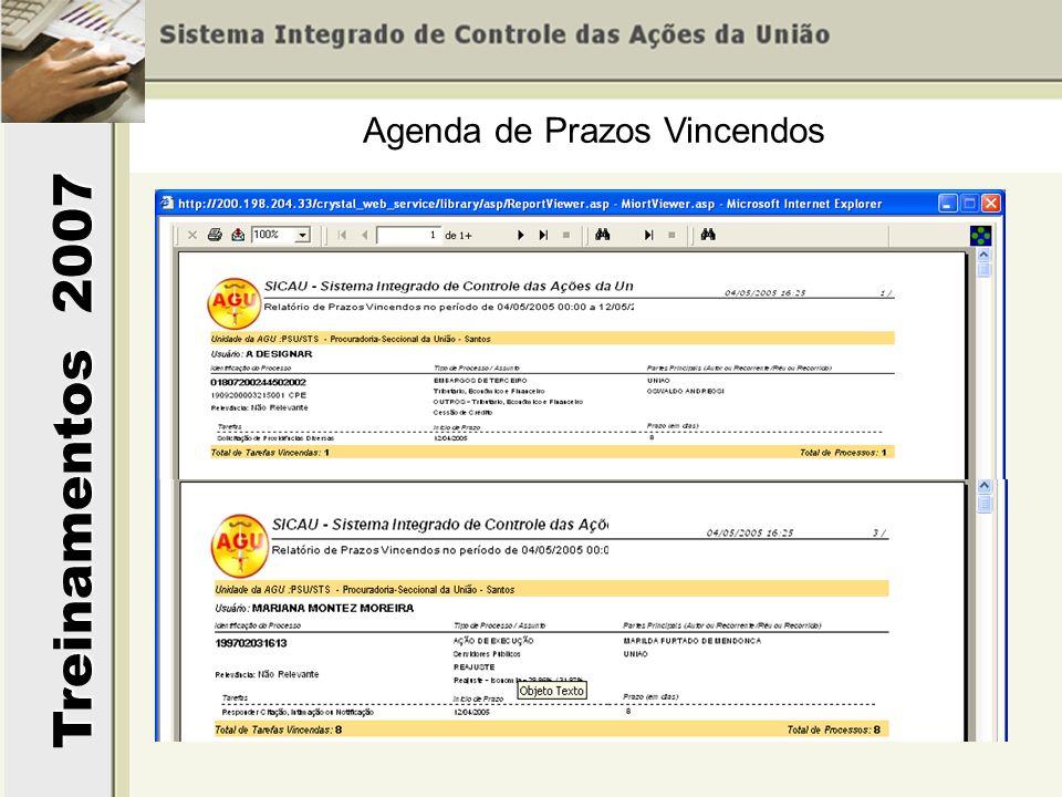 Agenda de Prazos Vincendos