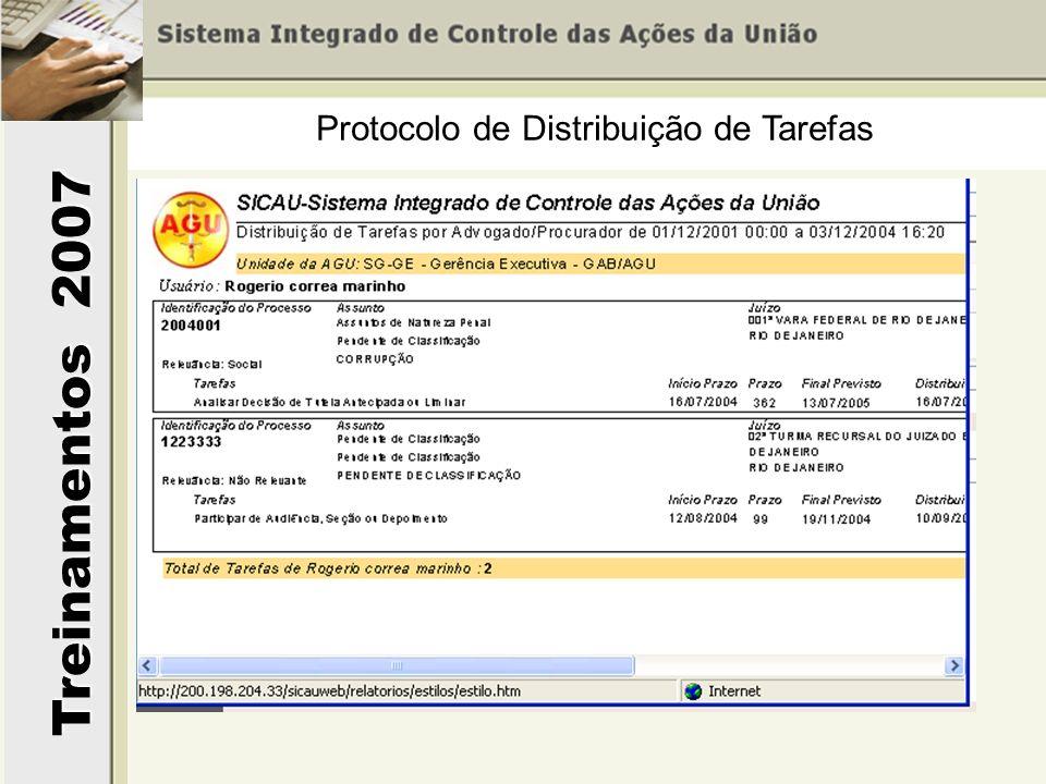 Protocolo de Distribuição de Tarefas