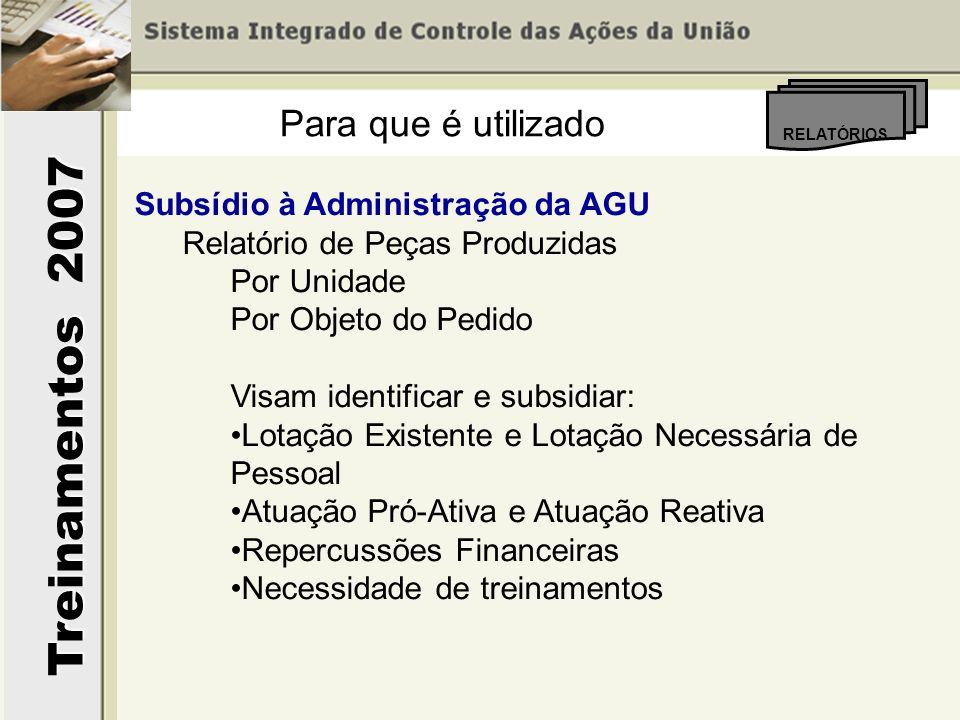 Para que é utilizado Subsídio à Administração da AGU