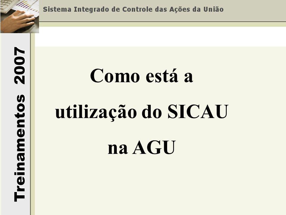 Como está a utilização do SICAU na AGU