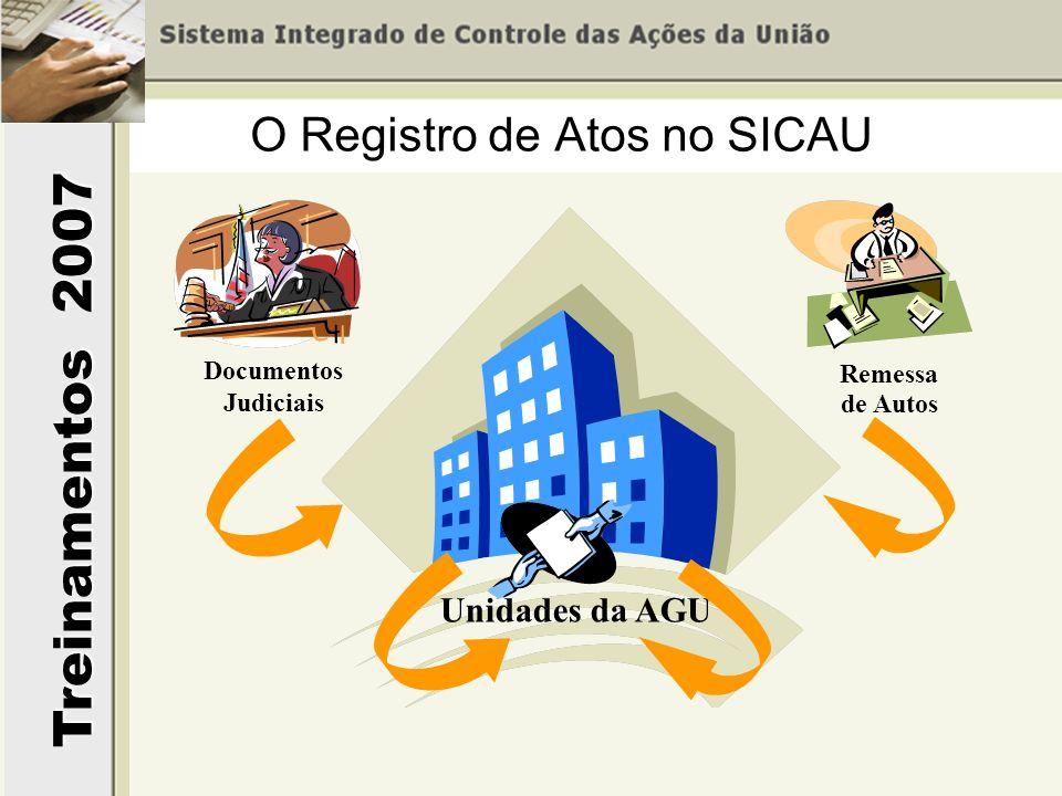 O Registro de Atos no SICAU