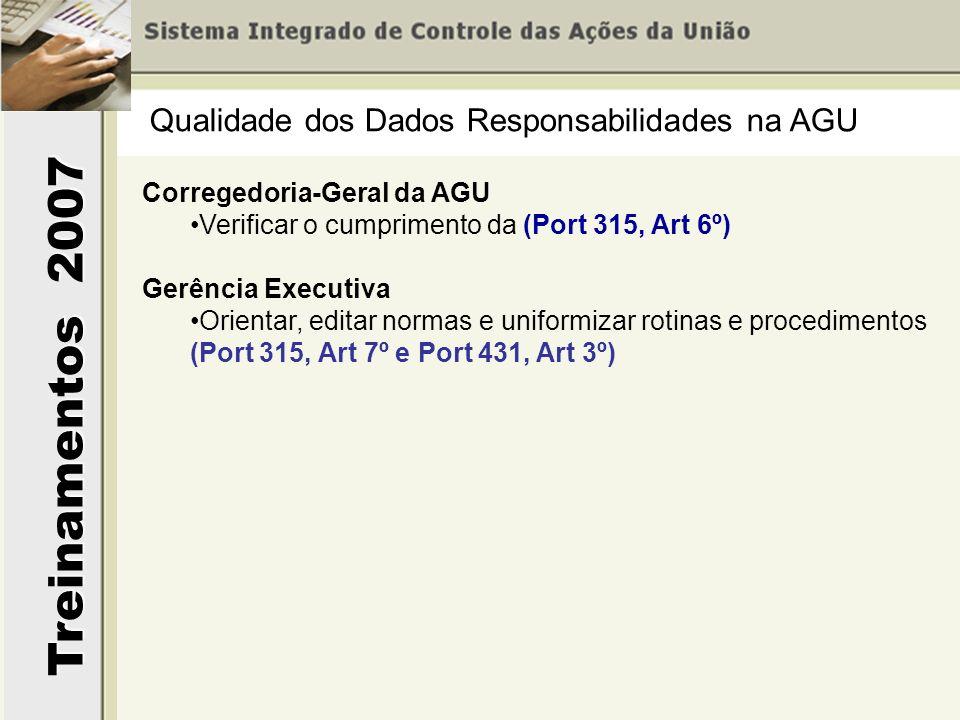 Qualidade dos Dados Responsabilidades na AGU