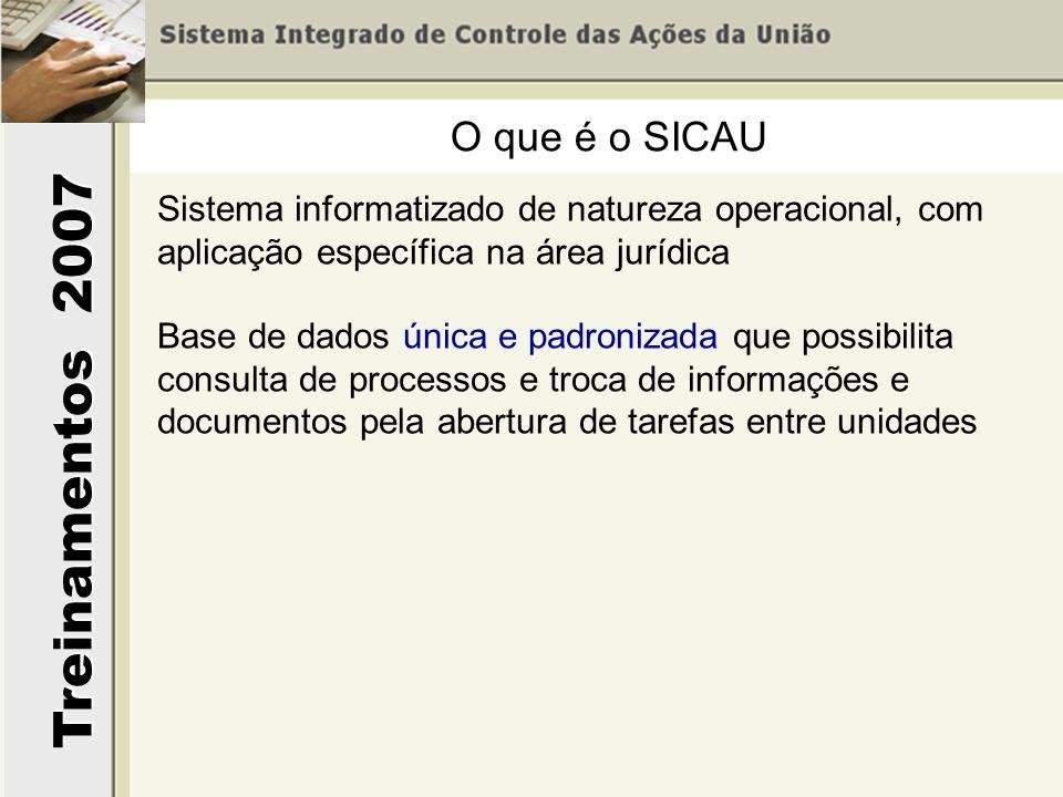 O que é o SICAU Sistema informatizado de natureza operacional, com aplicação específica na área jurídica.