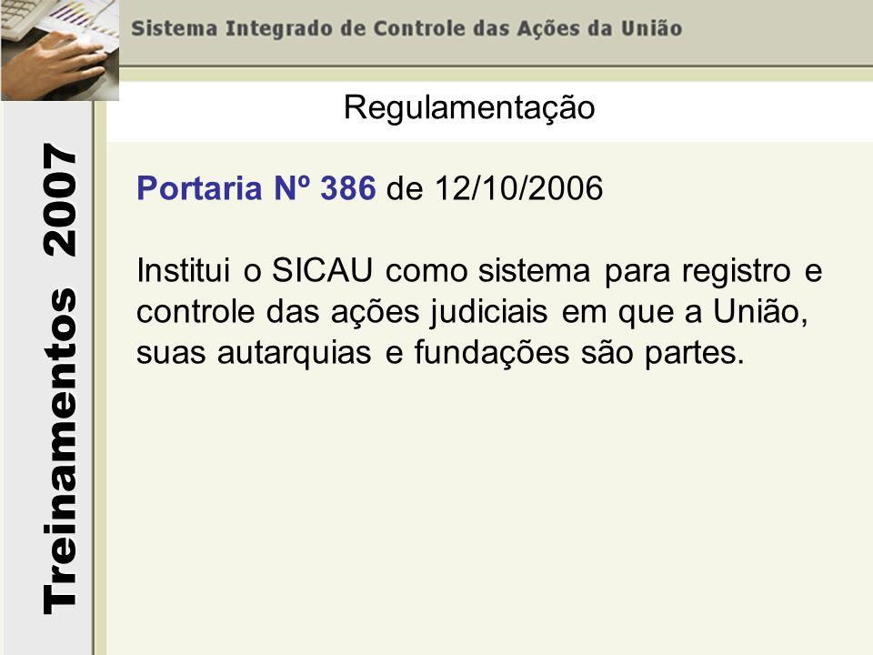 Regulamentação Portaria Nº 386 de 12/10/2006.