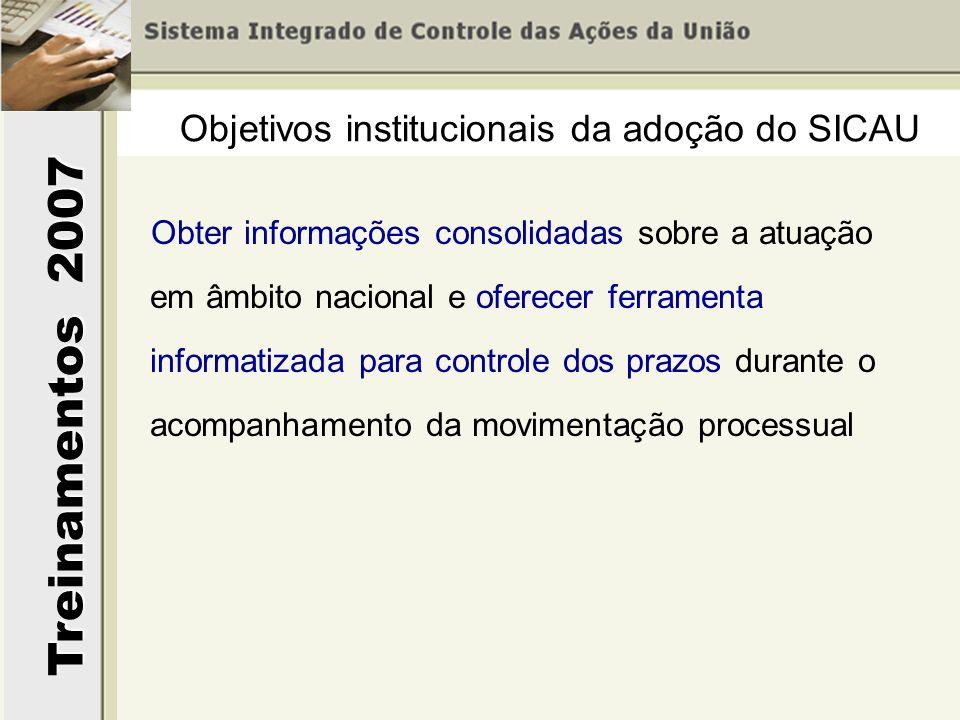 Objetivos institucionais da adoção do SICAU