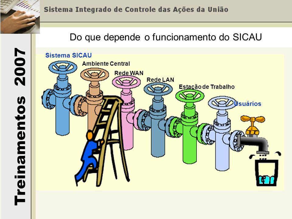 Do que depende o funcionamento do SICAU