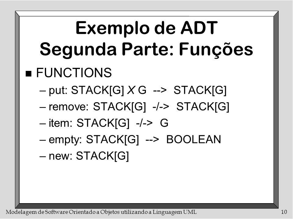 Exemplo de ADT Segunda Parte: Funções
