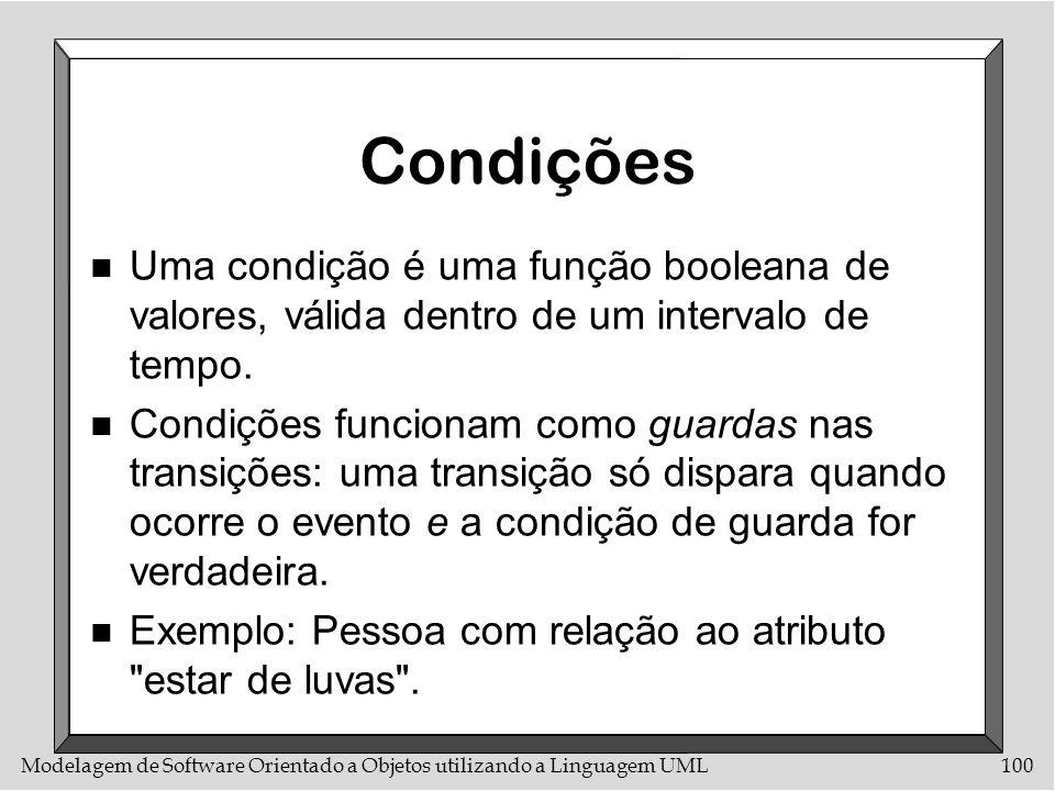 CondiçõesUma condição é uma função booleana de valores, válida dentro de um intervalo de tempo.