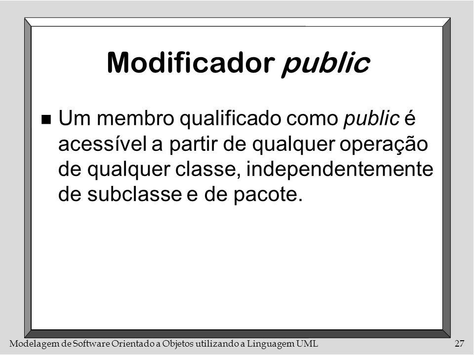 Modificador public