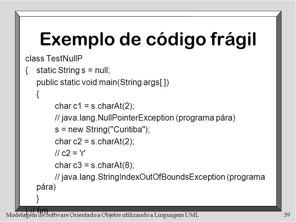 Exemplo de código frágil