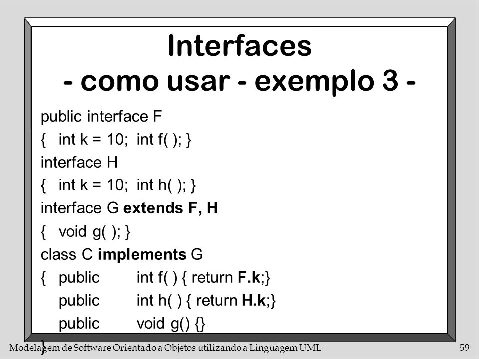 Interfaces - como usar - exemplo 3 -