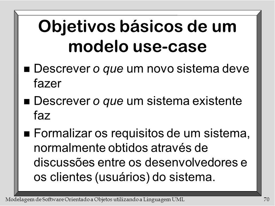 Objetivos básicos de um modelo use-case