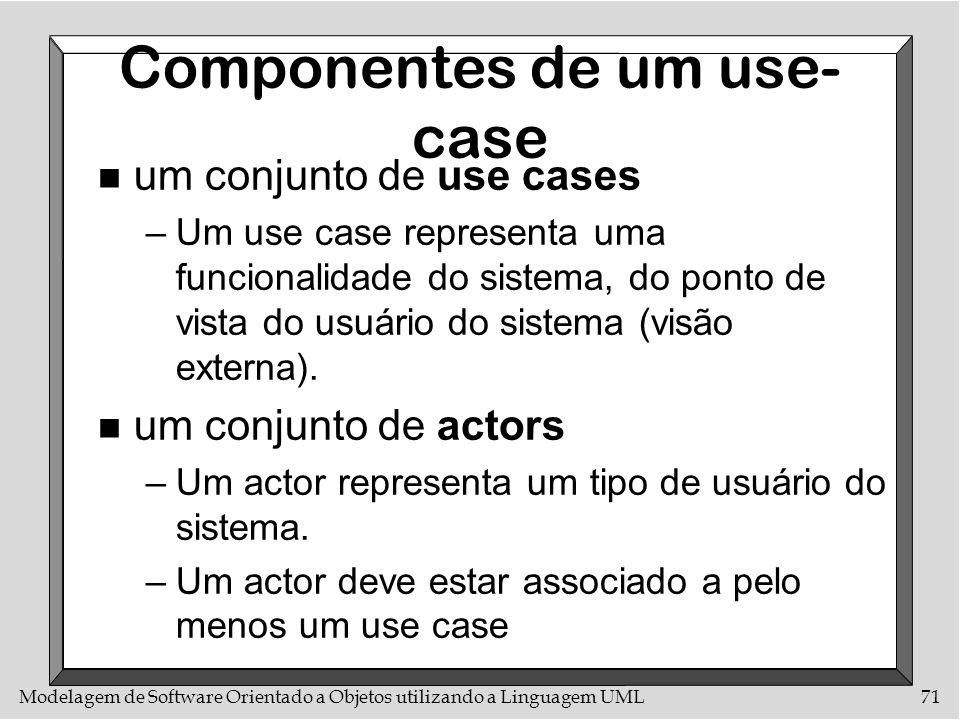 Componentes de um use-case