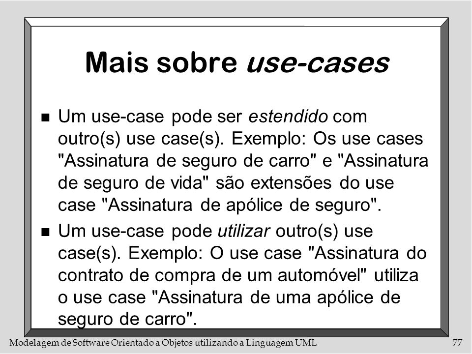 Mais sobre use-cases