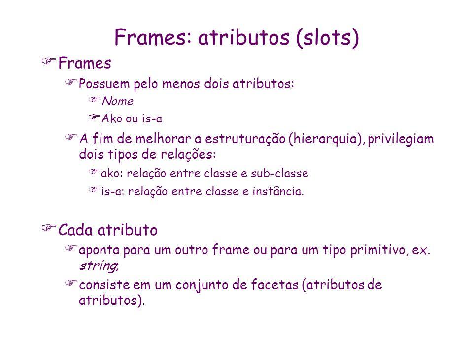 Frames: atributos (slots)