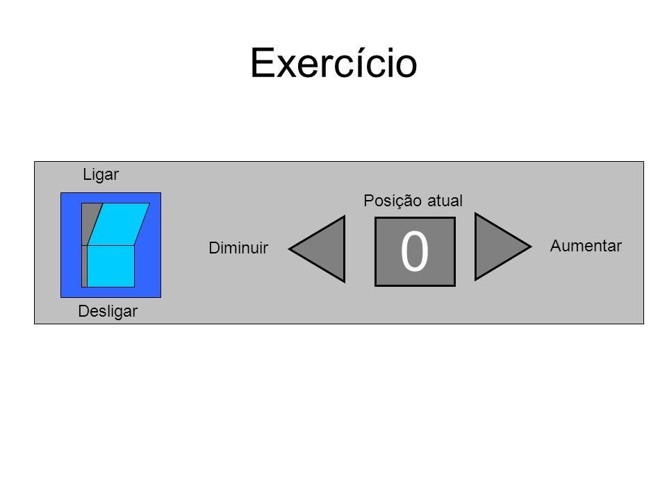 Exercício Posição atual Diminuir Aumentar Ligar Desligar