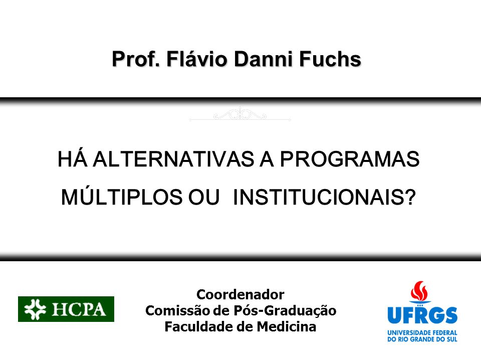 Prof. Flávio Danni Fuchs